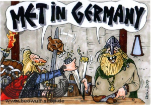 "Postkarte ""Met in Germany"""