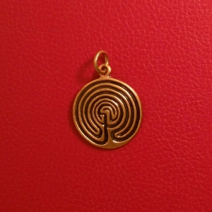 Labyrinth-Amulett, bronze